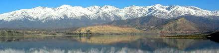 La bellísima Laguna del Diamante, hito del turismo aventura en Mendoza