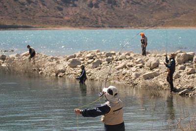Un día de pesca en el Río Mendoza